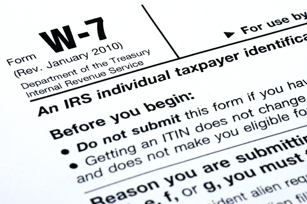 ITINs (Individual Tax Identification Number) Acceptace Agt YYC