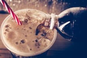 soda, straw, carbonated, plastic bottle, cup, bubbles, foam, coke