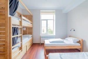 dormitory, dorm, college student, room, bed, window