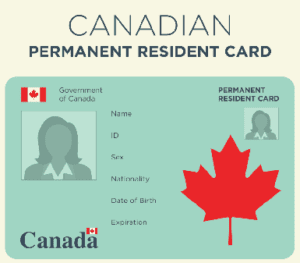 permanent resident card, visitor, travelling, live, work, study, social benefits, health care, Canadian citizenship, law, Canadian Charter of Rights and Freedoms, obligations, PR status, employment, PR card