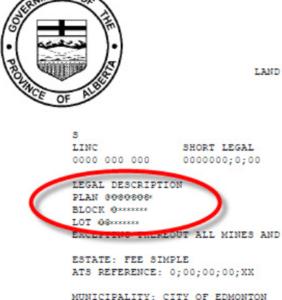 land title legal description