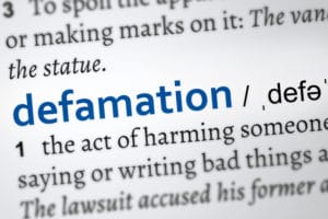 libel, slander, defamation, lies, harm, reputation, goodwill, trust, damage, media, company, liability, written, verbal, spoken, public, broadcast, radio, TV, film, third party, truth, privilege, fair comment, criticism, litigation, statement, pecuniary, special, damages